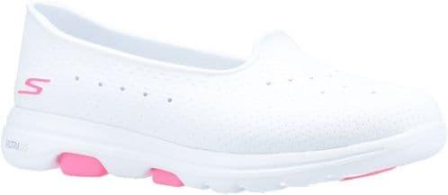 Skechers GOwalk 5 Sun Kissed Shoe Ladies Summer White